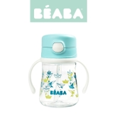 Tritanowa butelka ze słomką Beaba (240 ml) - light blue