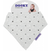 Apaszka-śliniak Dooky Dribble Bib - Light Grey Crowns
