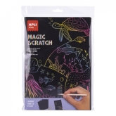 Apli Kids, Zestaw wydrapywanek magic scratch