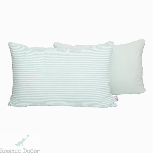 Poduszka Dekoracyjna 60x40 Paski Mietowo Białe