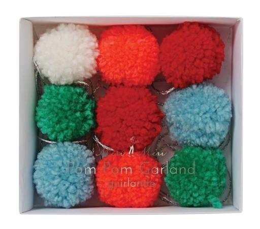 Girlanda Dekoracyjna Kolorowe Pompony